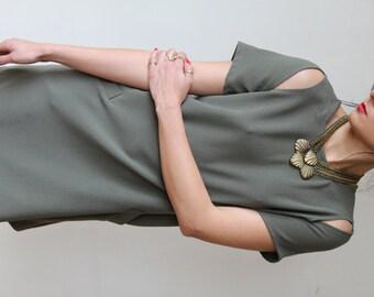 Olive Green Drsess / Midi Dress / Short Sleeves Dress / Casual Pocket Dress / Mini Dress / Prom Dress / Evening Dress / Summer Dress - Beth