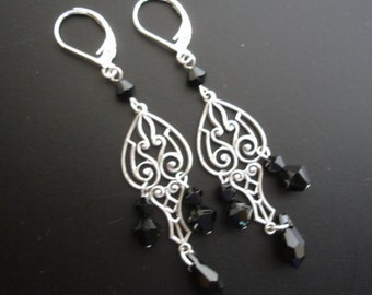Antique silver Art Nouveau earrings