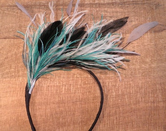 Bibi Diane headband with ostrich feathers