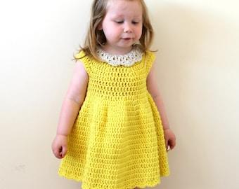 Crochet Pattern For Flower Girl Dress : Items similar to CROCHET FLOWER DRESS, Crochet Pattern ...
