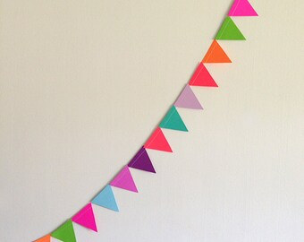 NEON Bunting Banner