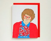 Lorraine - Greeting Card - MadTV -  Mad TV - You're Cute - Archival Print - A2
