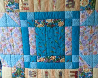 Personalised single bed quilt