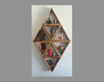 Large Diamond Wooden Shelves