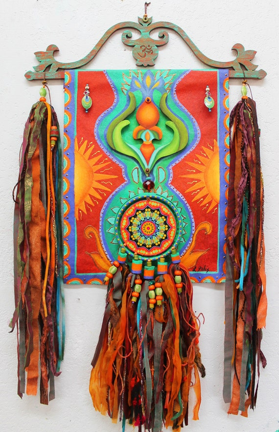 Boho Hippie Scroll Boho Tapastry Gypsy Art Hippie Art Boho
