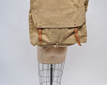 vintage backpack back pack day pack daypack BOY SCOUTS canvas leather 1950s