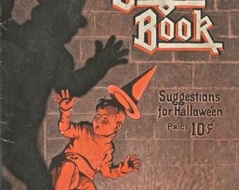 Vintage Halloween Dennison's Bogie Book cover art digital download printable image 300 dpi
