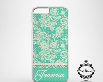 Lace Pastel Green Personalized Case, iPhone 4 Case, iPhone 4s Case, iPhone 5 Case, iPhone 5s Case, iPhone 5c Case, iPhone 6 Case #149
