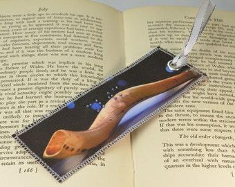 Hebrew Braille Bookmark, Unique Bookmark, Shofar Bookmark, Shalom Bookmark, Jewish Art, Fabric Bookmark, Judaica Bookmark, Jewish Bookmark