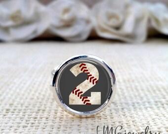 Custom Baseball Ring, Baseball Number Jewelry, Baseball Number Ring, Personalized Baseball Jewlery