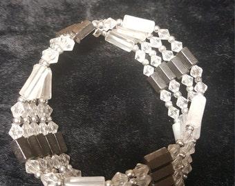 hand made magnetic hematite bracelet /necklace