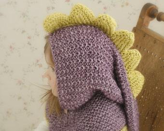 Knitting Pattern Fox Hood : Knit fox hood cowl Rene PDF knitting pattern in by MukiCrafts