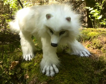 """""""arctic wolf"""" posable doll type"""