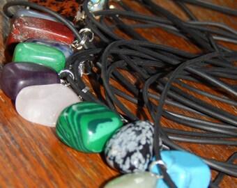 Genuine GEMSTONE NECKLACE - Your Choice of Freeform Gemstone Pendants - Reiki - Chakra - Metaphysical - Crystals - Genuine Gemstone Pendant
