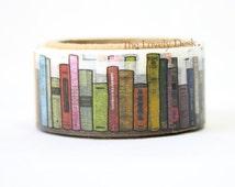 Yano Design Bookshelf Books Washi Tape (Die Cut) Masking Tape Japan - Books Reading Library Japanese