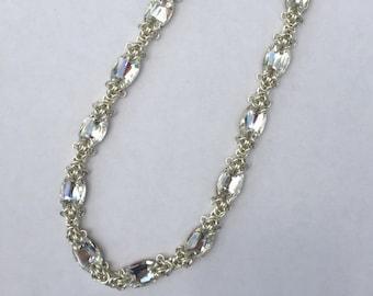 Swarovski Byzantine Chainmaille Necklace