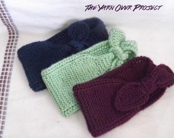 Knitted Headband - Knitted Ear Warmer - Knitted Knot Headband