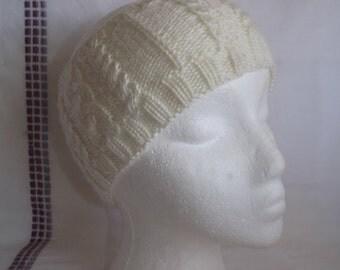 Knitted Headband - Knitted Ear Warmer - Knit Figure 8 Runner's Headband