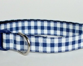 Royal Gingham Dog Collar