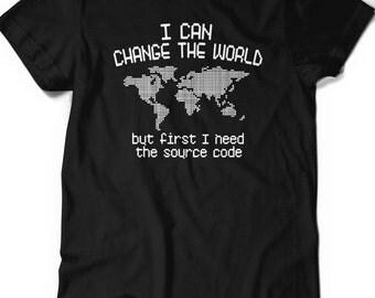 Funny Shirt Programmer Code IT T-shirt Tee Mens Womens Ladies Humor Gift Geek Nerd Present Coder Computer Science Tech Developer Source Code