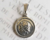 Medal - Saint James the Greater (of Compostela) - Sterling Silver - 19mm