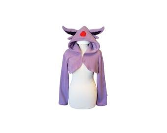Cute lilac hooded shrug