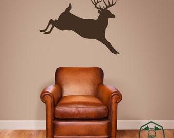 Jumping Buck Deer Wall Decor Decal