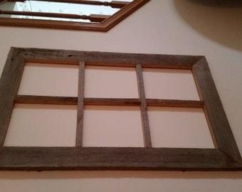 Old Barnwood 6 panel window