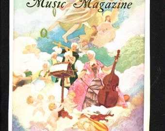 "Cover only of April 1929 ""Etude Music Magazine"", 10 x 13 in. fantasy cover -  PD000274"