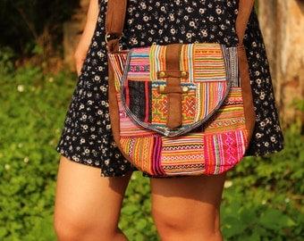 Flower Hmong Patchwork Bag