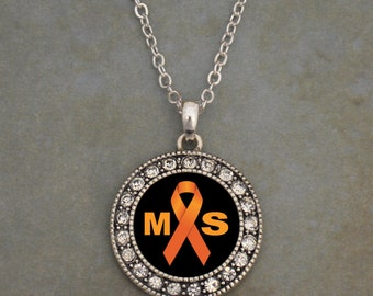 Multiple Sclerosis Awareness Necklace