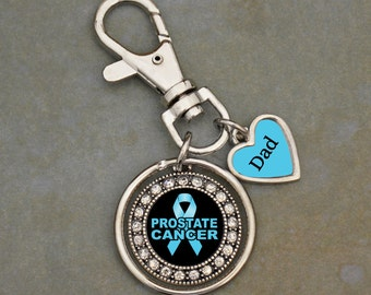 Custom Loved One Prostate Cancer Awareness Key Chain