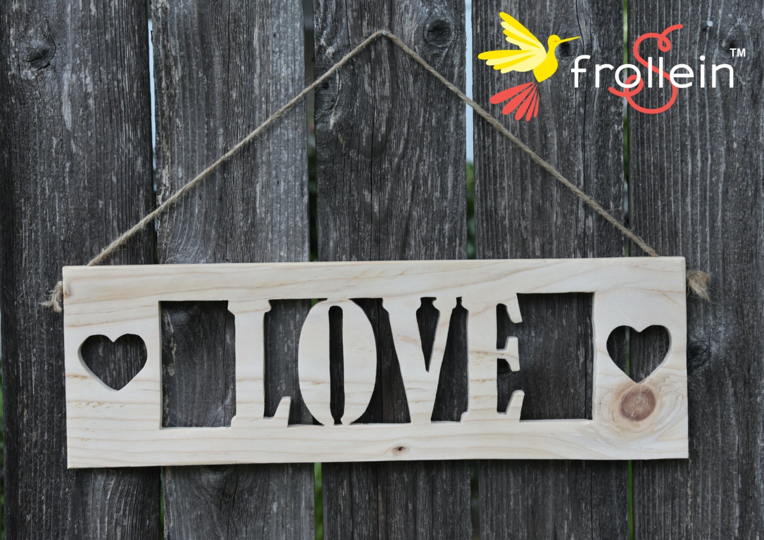 Design Your Own Wooden Sign Love Sign By Frolleinsusa On Etsy