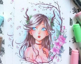 DEER GIRL - A6 & A5 Print