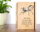 Custom Journals, Journal Notebook, Personalized Journal, Personalized Gift for Mom, Horse Journal, Wood Journal, Bound Journal, Unique Gift