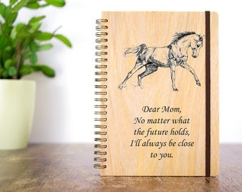 Custom Journals, Journal Notebook, Personalized Journal, Personalized Gift for Mom, Horse Journal, Wood Journal, Bound Journal, Unique Gift