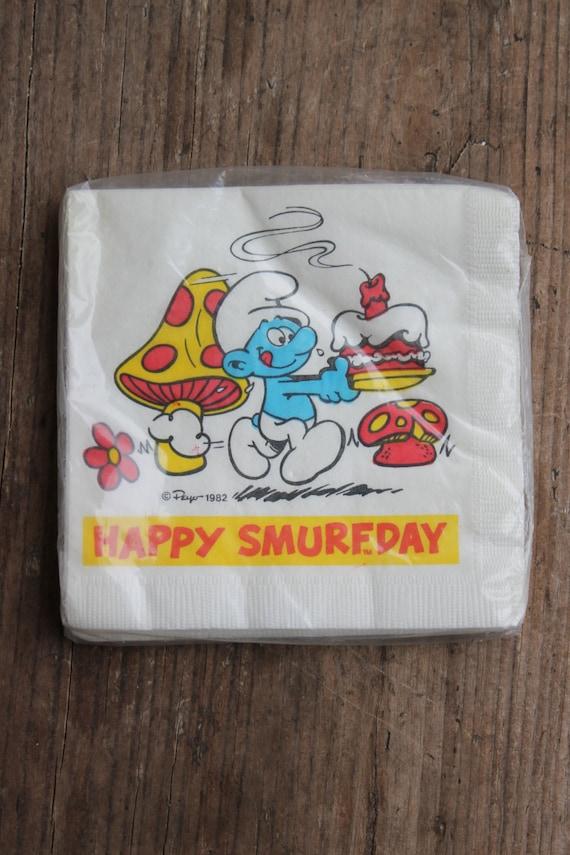 Smurf Napkins