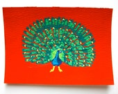 "The Diva Peacock #89 (ARTIST TRADING CARDS) 2.5"" x 3.5"" by Mike Kraus Free Shipping"