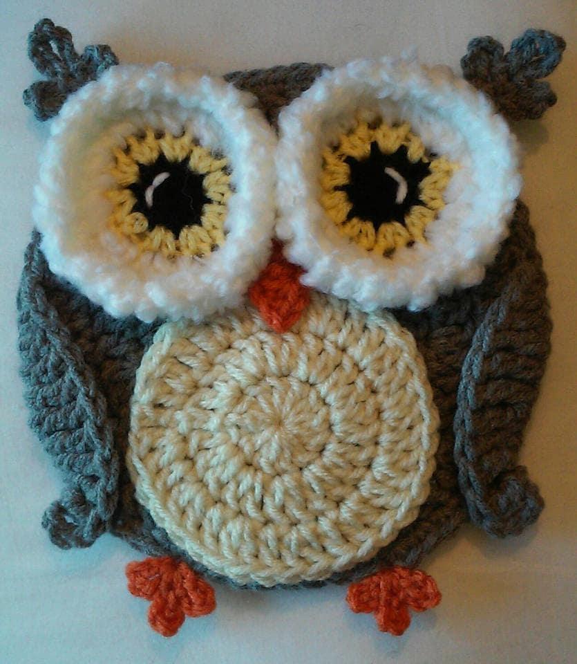 Easter Pot Holders Crochet: Crochet Woodsy Owl Potholder Pattern Only