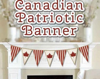 CANADIAN PATRIOTIC Banner, Canada Day Banner, Maple Leaf Banner, Remembrance Day, Victoria Day, Rustic style Canada Day Banner