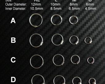 cartilage earring, tragus earring, helix earring, cartilage hoop, tragus hoop, helix hoop, nose ring snug 20g