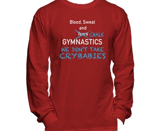 Gymnastics Long Sleeve T-Shirt - Gymnastics Tee Shirt - Gymnastics T shirt - Gymnastics Clothes - Gymnastics Gifts -  Gymnastics Present