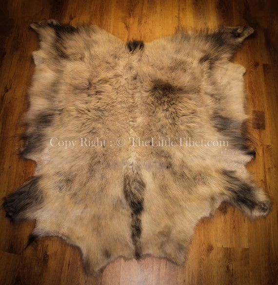 Tibetan Yak Hide With Fur On Makes A Great Throw By