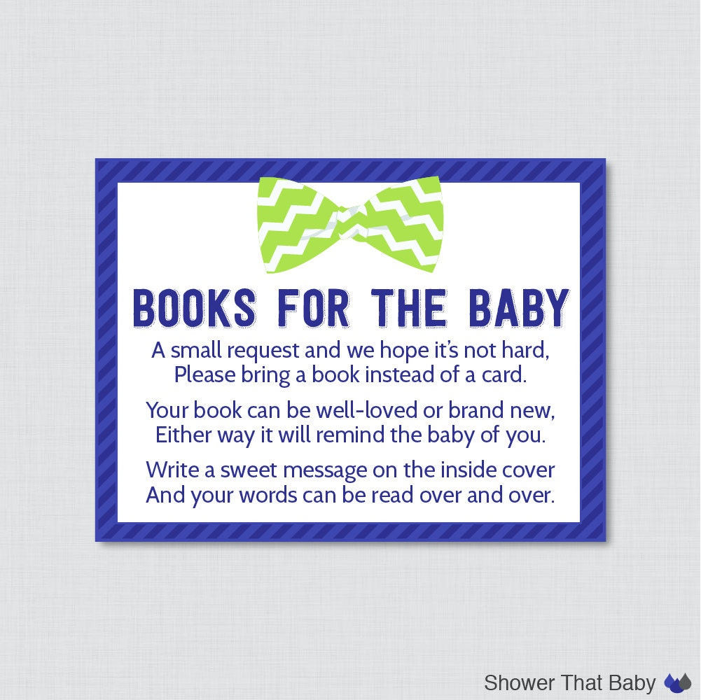 bow tie baby shower printable bring a book instead of a card