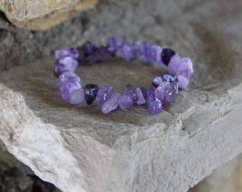 Natural Amethyst Crystal (Chip) Bracelet