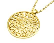 Shema Yisrael Necklace GOLD Filled 14K, kabbalah jewelry