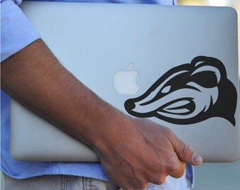 Honey Badger Mascot Vinyl Decal