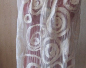 Very light and soft nuno felted scarf