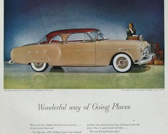 1951 Packard Mayfair Ad - Ultramatic Drive - Ask the Man Who Owns One - 1950s Packard Advertising - Classic Automobile