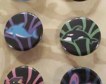 Free! Iwatobi Swim Club Spirit Animal Buttons